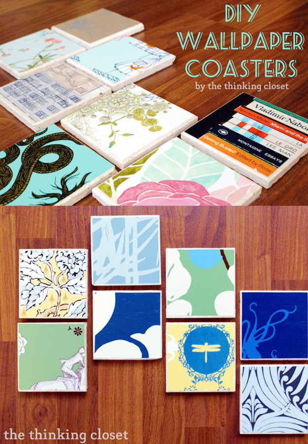Anthropologie DIY Hacks, Clothes, Sewing Projects and Jewelry Fashion - Pillows, Bedding and Curtains - Tables and furniture - Mugs and Kitchen Decorations - DIY Room Decor and Cool Ideas for the Home | DIY Wall Paper Coasters