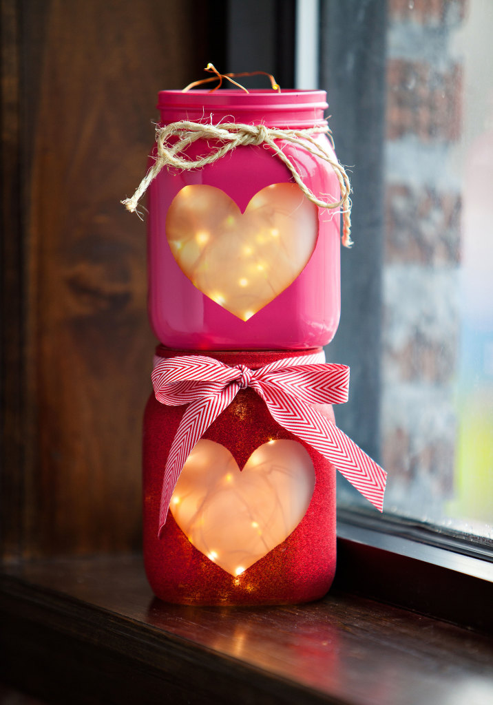Cute DIY Mason Jar Ideas - DIY Mason Jar Hearts Lantern - Fun Crafts, Creative Room Decor, Homemade Gifts, Creative Home Decor Projects and DIY Mason Jar Lights - Cool Crafts for Teens and Tween Girls #diyideas #masonjarcrafts #teencrafts