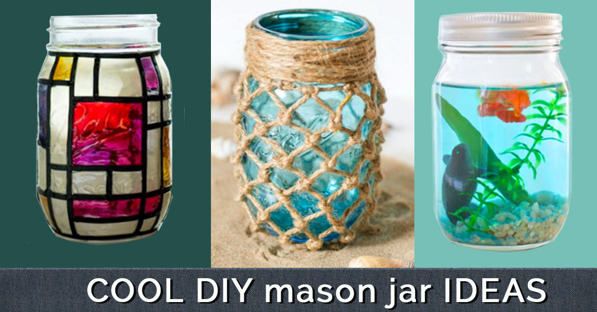40 Cute DIY Mason Jar Crafts Custom Decorating Ideas For Glass Jars