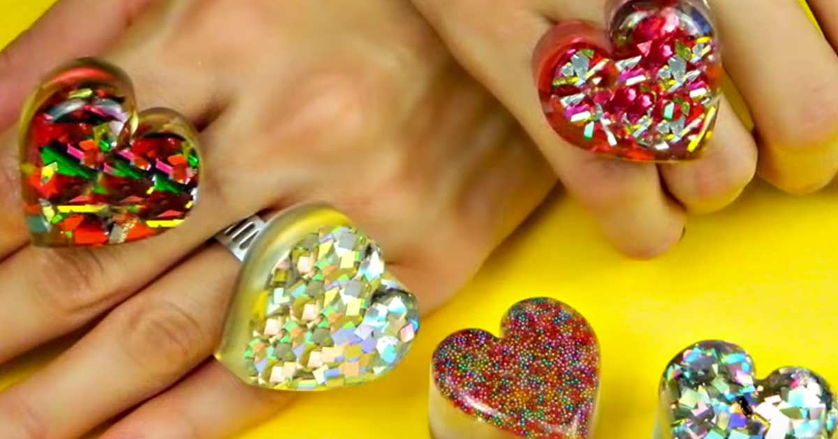 How To Make DIY Heart Shaped Rings