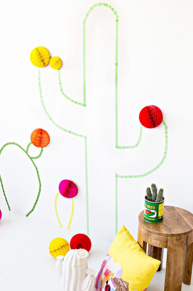 Washi Tape Crafts - DIY Washi Tape Cactus - Wall Art, Frames, Cards, Pencils, Room Decor and DIY Gifts, Back To School Supplies - Creative, Fun Craft Ideas for Teens, Tweens and Teenagers - Step by Step Tutorials and Instructions #washitape #crafts #cheapcrafts #teencrafts