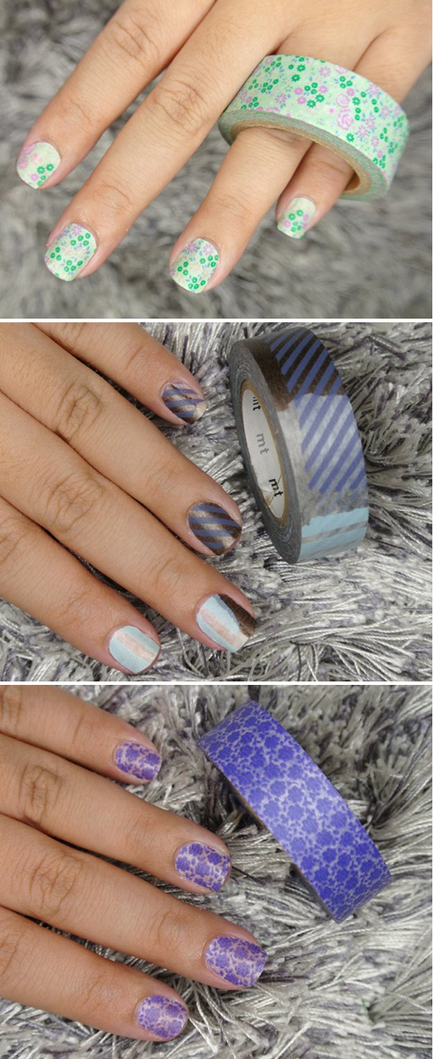 Washi Tape Crafts - DIY Washi Tape Nail Art - Wall Art, Frames, Cards, Pencils, Room Decor and DIY Gifts, Back To School Supplies - Creative, Fun Craft Ideas for Teens, Tweens and Teenagers - Step by Step Tutorials and Instructions #washitape #crafts #cheapcrafts #teencrafts