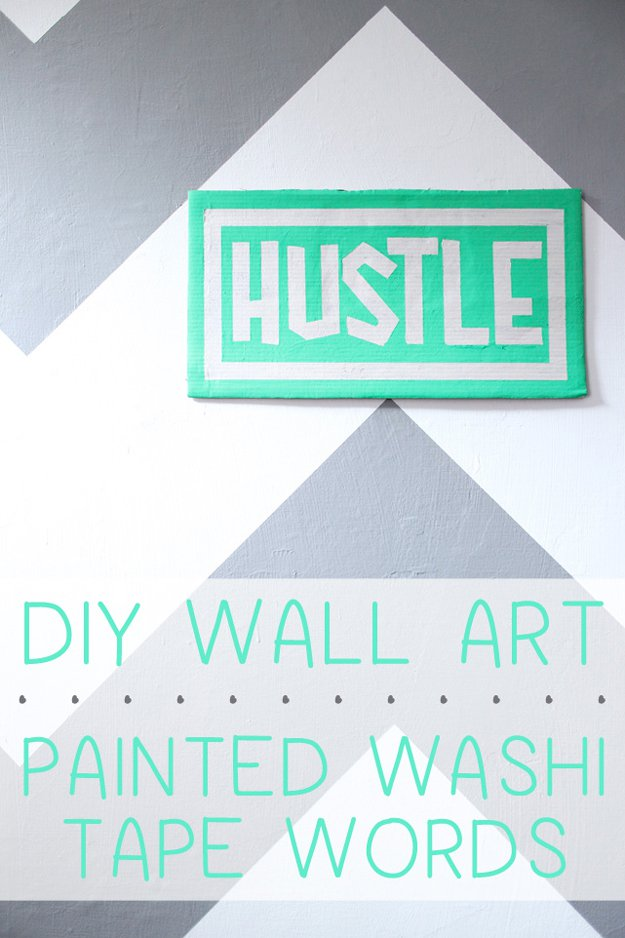Washi Tape Crafts - Painted Washi Tape Words - Wall Art, Frames, Cards, Pencils, Room Decor and DIY Gifts, Back To School Supplies - Creative, Fun Craft Ideas for Teens, Tweens and Teenagers - Step by Step Tutorials and Instructions #washitape #crafts #cheapcrafts #teencrafts
