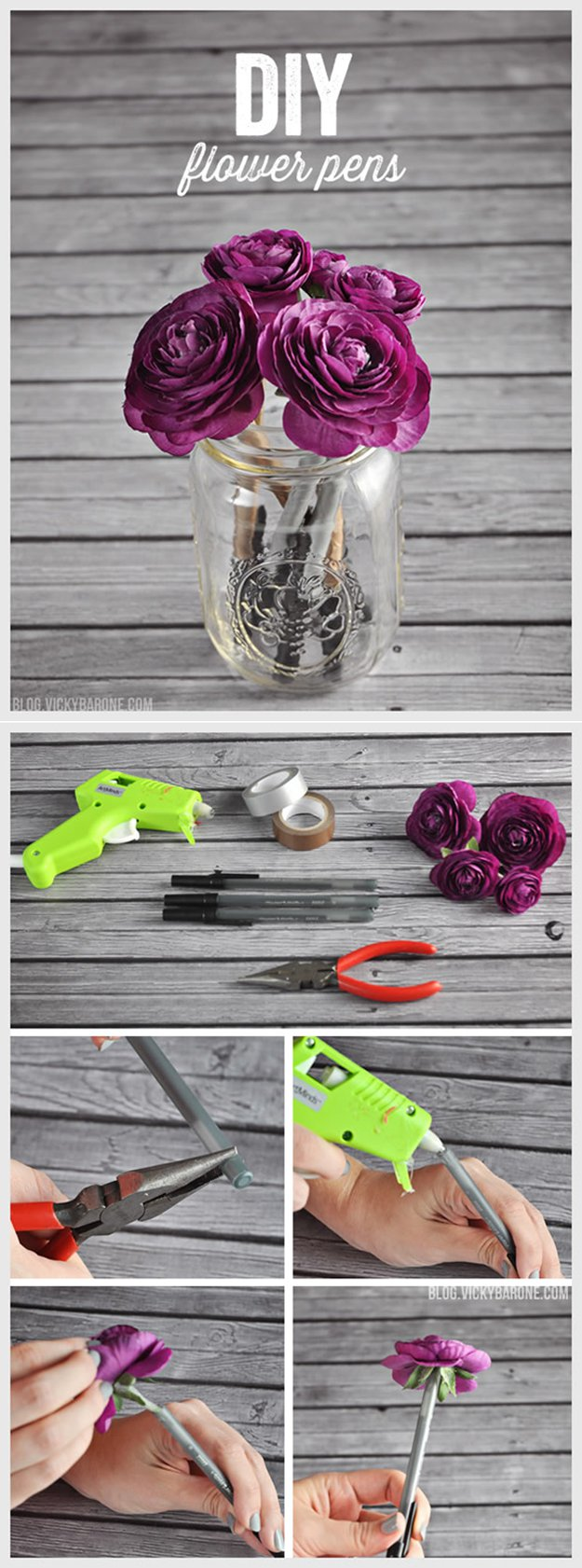 Washi Tape Crafts - DIY Flower Pens - Wall Art, Frames, Cards, Pencils, Room Decor and DIY Gifts, Back To School Supplies - Creative, Fun Craft Ideas for Teens, Tweens and Teenagers - Step by Step Tutorials and Instructions #washitape #crafts #cheapcrafts #teencrafts