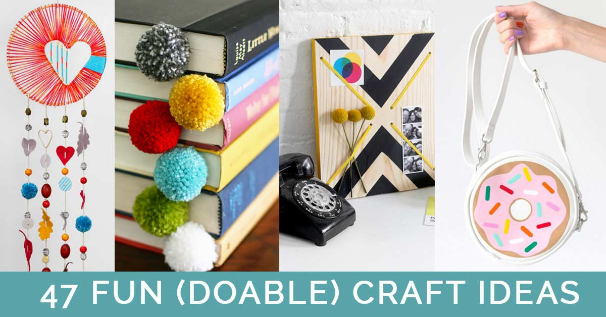 45 Fun (Doable) Craft Ideas That You Can Actually Make At Home - Cool Pinterest Crafts That Are Not Impossible Make Fun DIY Projects for Adults, Teens and Tween Girls. Fun DIY Gifts and Inexpensive Ideas to Make and Sell