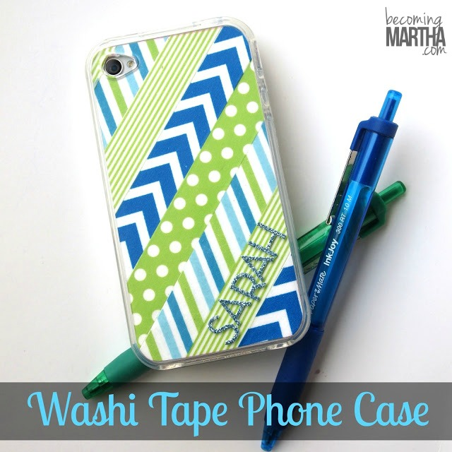 Washi Tape Crafts - Washi Tape Phone Case - Wall Art, Frames, Cards, Pencils, Room Decor and DIY Gifts, Back To School Supplies - Creative, Fun Craft Ideas for Teens, Tweens and Teenagers - Step by Step Tutorials and Instructions #washitape #crafts #cheapcrafts #teencrafts