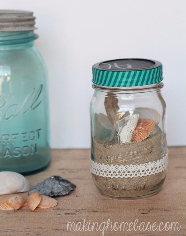 Crafts to Make and Sell - Beachy Mason Jar Terrarium - Cool and Cheap Craft Projects and DIY Ideas for Teens and Adults to Make and Sell - Fun, Cool and Creative Ways for Teenagers to Make Money Selling Stuff to Make #teencrafts #diyideas #craftstosell