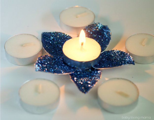 Crafts to Make and Sell - DIY Flower Tea Light Candle Holder - Cool and Cheap Craft Projects and DIY Ideas for Teens and Adults to Make and Sell - Fun, Cool and Creative Ways for Teenagers to Make Money Selling Stuff to Make http://diyprojectsforteens.com/crafts-to-make-and-sell-for-teens
