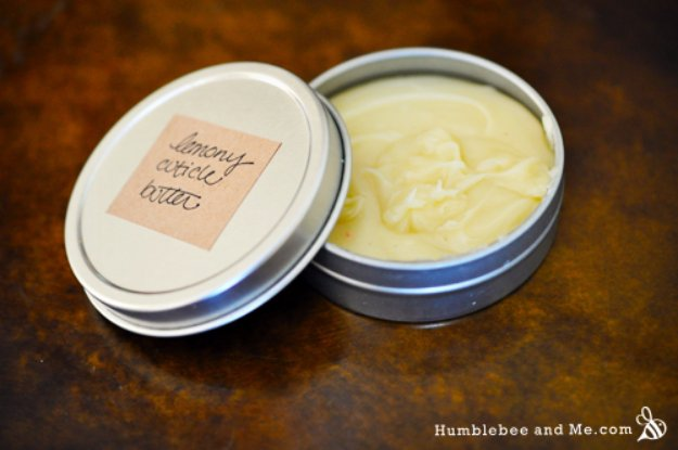 DIY Lush Inspired Recipes - DIY Lemony Cuticle Butter Inspired by Lush Lemony Flutter- How to Make Lush Products like Bath Bombs, Face Masks, Lip Scrub, Bubble Bars, Dry Shampoo and Hair Conditioner, Shower Jelly, Lotion, Soap, Toner and Moisturizer. Copycat and Dupes of Ocean Salt, Buffy, Dark Angels, Rub Rub Rub, Big, Dream Cream and More. #teencrafts #lush #beautyideas #diybeauty #bathbombs