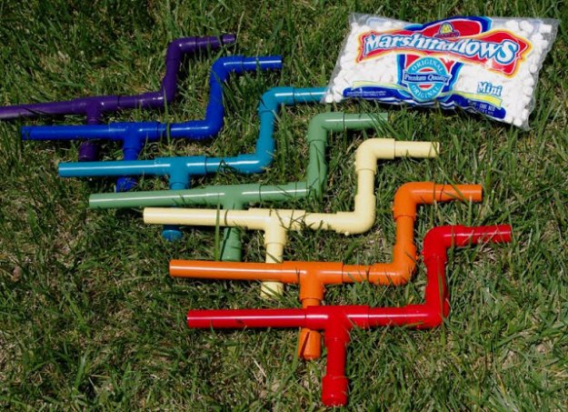 Crafts to Make and Sell - DIY Marshmallow Shooters - Cool and Cheap Craft Projects and DIY Ideas for Teens and Adults to Make and Sell - Fun, Cool and Creative Ways for Teenagers to Make Money Selling Stuff to Make #teencrafts #diyideas #craftstosell