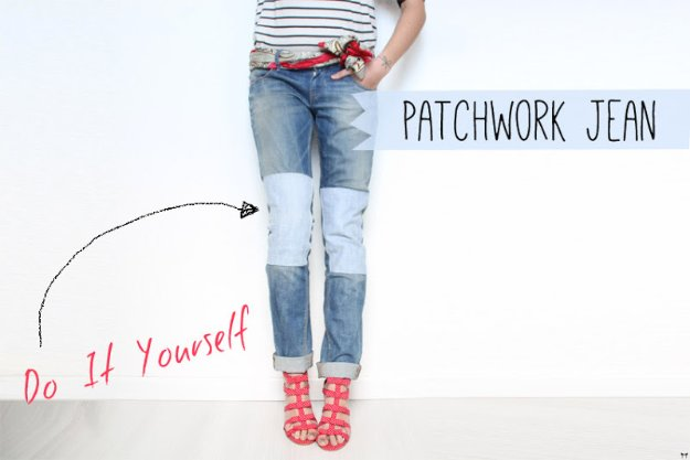 DIY Patchwork Jean
