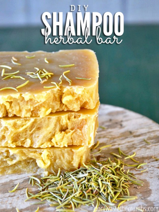 DIY Lush Inspired Recipes - DIY Shampoo Herbal Bar - How to Make Lush Products like Bath Bombs, Face Masks, Lip Scrub, Bubble Bars, Dry Shampoo and Hair Conditioner, Shower Jelly, Lotion, Soap, Toner and Moisturizer. Copycat and Dupes of Ocean Salt, Buffy, Dark Angels, Rub Rub Rub, Big, Dream Cream and More. #teencrafts #lush #beautyideas #diybeauty #bathbombs