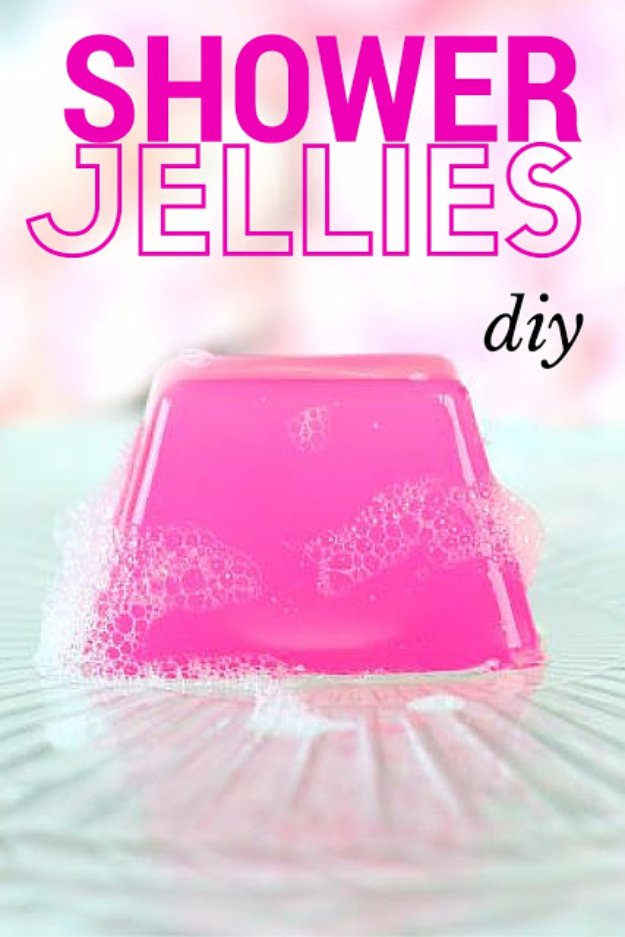 DIY Lush Inspired Recipes - DIY Shower & Bath Jellies (Lush Inspired) - How to Make Lush Products like Bath Bombs, Face Masks, Lip Scrub, Bubble Bars, Dry Shampoo and Hair Conditioner, Shower Jelly, Lotion, Soap, Toner and Moisturizer. Copycat and Dupes of Ocean Salt, Buffy, Dark Angels, Rub Rub Rub, Big, Dream Cream and More. #teencrafts #lush #beautyideas #diybeauty #bathbombs