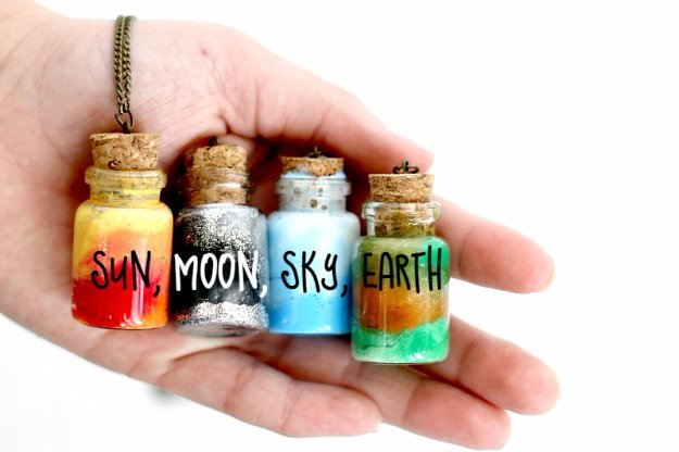 Crafts to Make and Sell - Element Jar Necklace Tutorial - Cool and Cheap Craft Projects and DIY Ideas for Teens and Adults to Make and Sell - Fun, Cool and Creative Ways for Teenagers to Make Money Selling Stuff to Make http://diyprojectsforteens.com/crafts-to-make-and-sell-for-teens