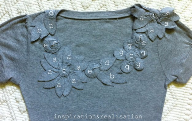 T-Shirt Makeovers - Grey 3D Flowers T-Shirt Redo - Awesome Way to Upcycle Tees - Cool No Sew Tshirt Cutting Tutorials, Simple Summer Cutouts, How To Make Halter Tops and T-Shirt Dresses. Easy Tutorials and Instructions for Teens and Adults http:diyprojectsforteens.com/diy-tshirt-makeovers