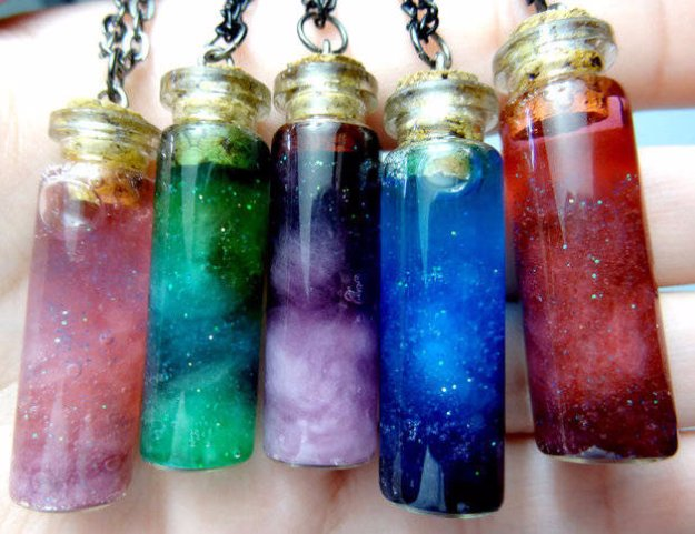 Crafts to Make and Sell - How to Make Bottled Nebula - Cool and Cheap Craft Projects and DIY Ideas for Teens and Adults to Make and Sell - Fun, Cool and Creative Ways for Teenagers to Make Money Selling Stuff to Make #teencrafts #diyideas #craftstosell