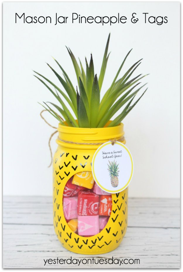Crafts to Make and Sell - Mason Jar Pineapple and Tags - Cool and Cheap Craft Projects and DIY Ideas for Teens and Adults to Make and Sell - Fun, Cool and Creative Ways for Teenagers to Make Money Selling Stuff to Make #teencrafts #diyideas #craftstosell