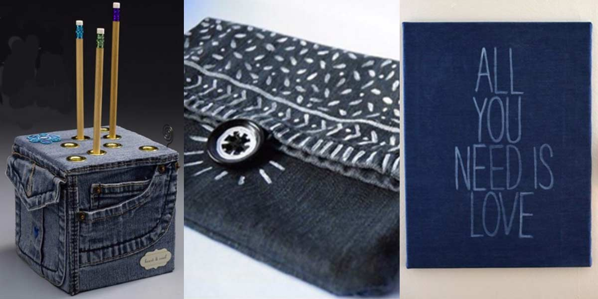 Recycled Denim Crafts - Cool Ways To Use Old Denim