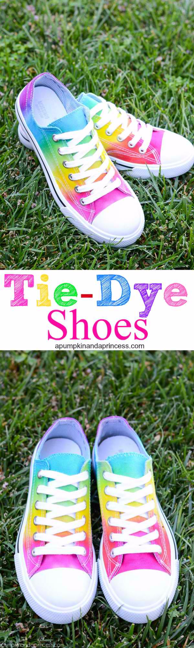 DIY Shoe Makeovers - Rainbow Tie Dye Shoes - Cool Ways to Update, Decorate, Paint, Bedazle and Add Sparkle to Your Flats, Pumps, Tennis Shoes, Boots and Boring Shoes - Cool Crafts and DIY Shoe Ideas for Teens and Adults