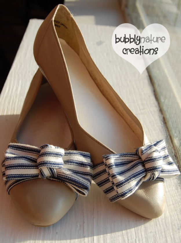 DIY Shoe Makeovers - Sand And Sea Shoes - Cool Ways to Update, Decorate, Paint, Bedazle and Add Sparkle to Your Flats, Pumps, Tennis Shoes, Boots and Boring Shoes - Cool Crafts and DIY Shoe Ideas for Teens and Adults