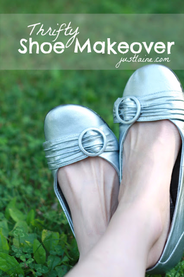 1fc257d428aa DIY Shoe Makeovers - Thrifty Shoe Makeover - Cool Ways to Update