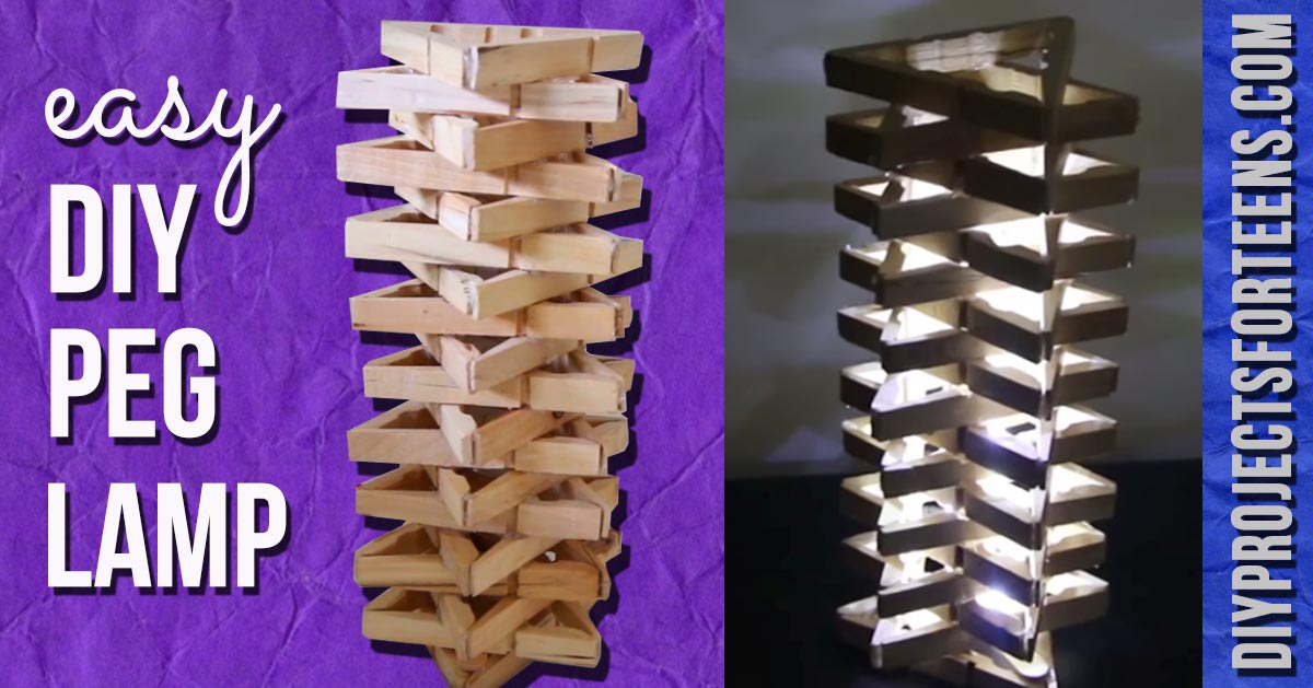 Easy and Awesome Clothespin Lamp!