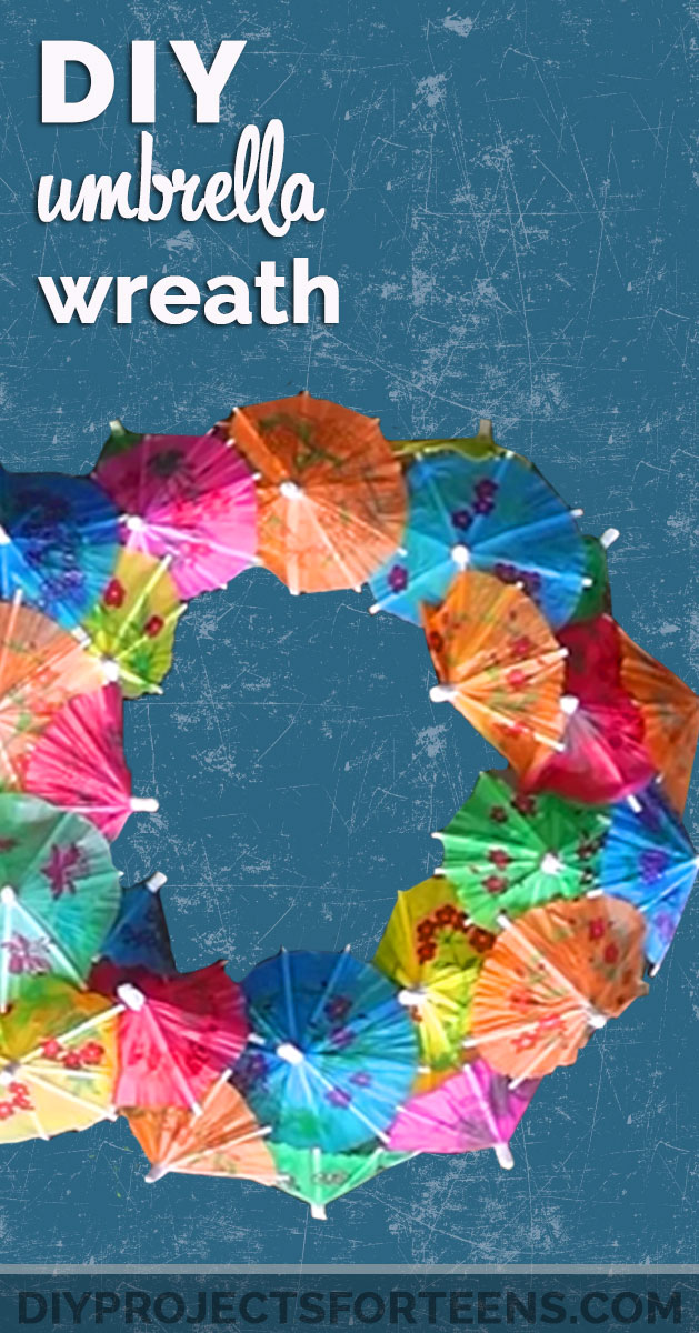 Easy DIY Projects for Teens and Adults - Fun Summer Wreath Made From Paper Umbrellas - Cool Party Craft and Room Decor Ideas