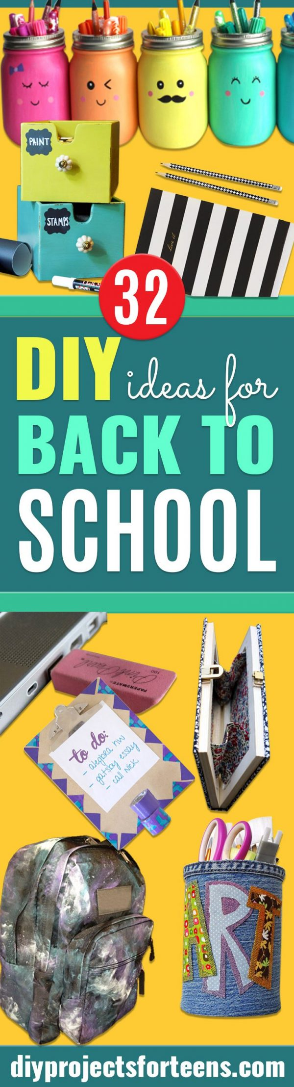 DIY School Supplies You Need For Back To School - Cuter, Cool and Easy Projects for Teens, Tweens and Kids to Make for Middle School and High School. Fun Ideas for Backpacks, Pencils, Notebooks, Organizers, Binders #diyschoolsupplies #backtoschool #teencrafts