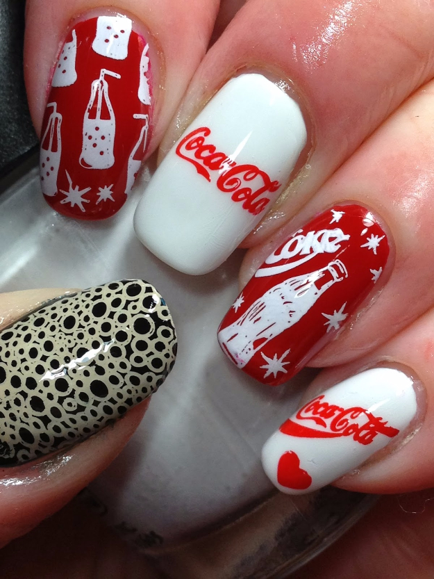 Coca Cola Nails - DIY Projects for Teens