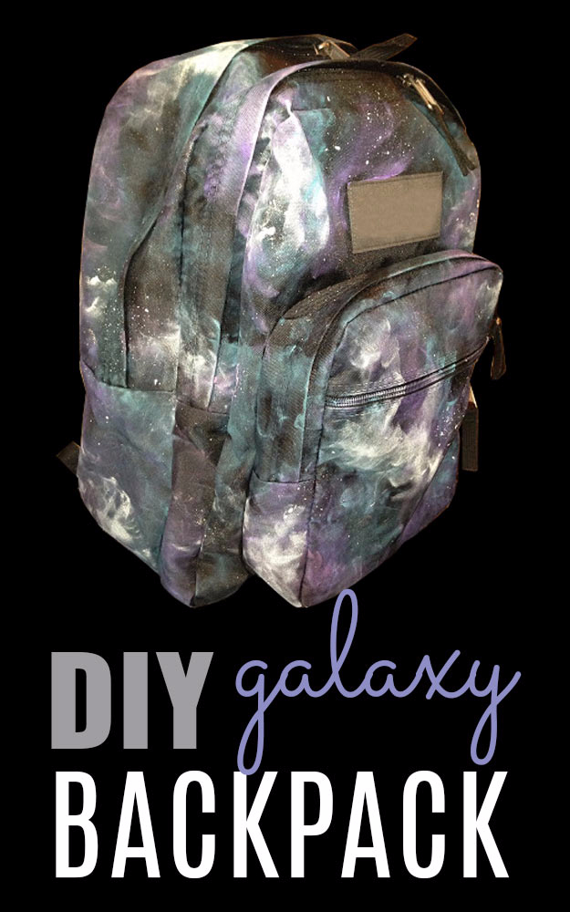 DIY School Supplies You Need For Back To School - DIY Galaxy Backpack - Cuter, Cool and Easy Projects for Teens, Tweens and Kids to Make for Middle School and High School. Fun Ideas for Backpacks, Pencils, Notebooks, Organizers, Binders #diyschoolsupplies #backtoschool #teencrafts