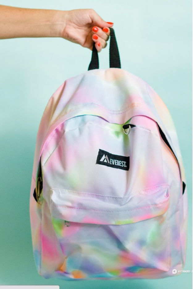 DIY School Supplies You Need For Back To School - DIY Rainbow Watercolor Backpack - Cuter, Cool and Easy Projects for Teens, Tweens and Kids to Make for Middle School and High School. Fun Ideas for Backpacks, Pencils, Notebooks, Organizers, Binders #diyschoolsupplies #backtoschool #teencrafts