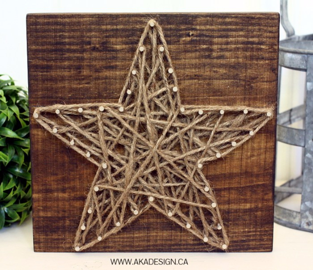 DIY String Art Projects - DIY String Art Star - Cool, Fun and Easy Letters, Patterns and Wall Art Tutorials for String Art - How to Make Names, Words, Hearts and State Art for Room Decor and DIY Gifts - fun Crafts and DIY Ideas for Teens and Adults http://diyprojectsforteens.com/diy-string-art-projects