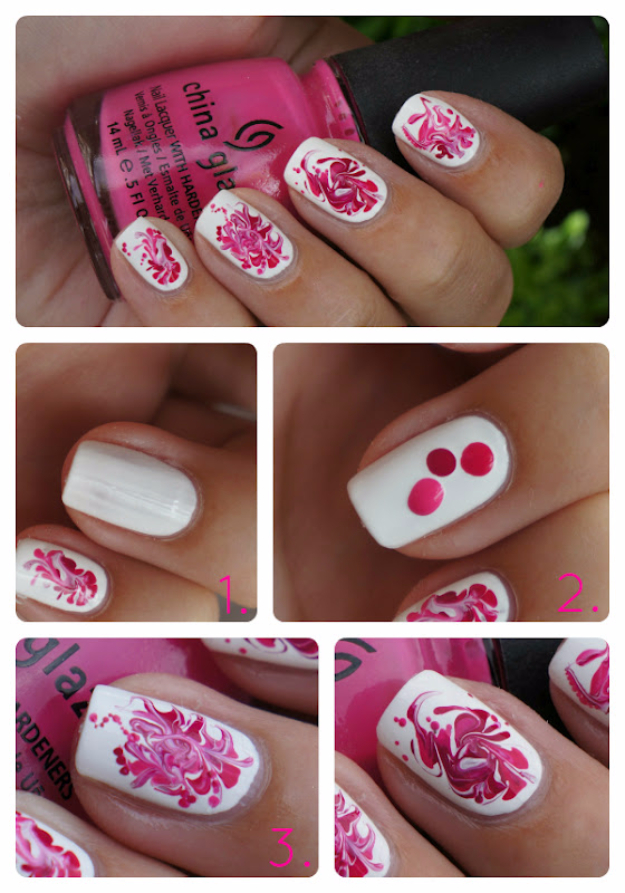 Awesome Nail Art Patterns And Ideas - DIY Swirl It Nail Art - Step by Step DIY Nail Design Tutorials for Simple Art, Tribal Prints, Best Black and White Manicures. Easy and Fun Colors, Shapes and Designs for Your Nails http://diyprojectsforteens.com/best-nail-art-patterns-tutorials