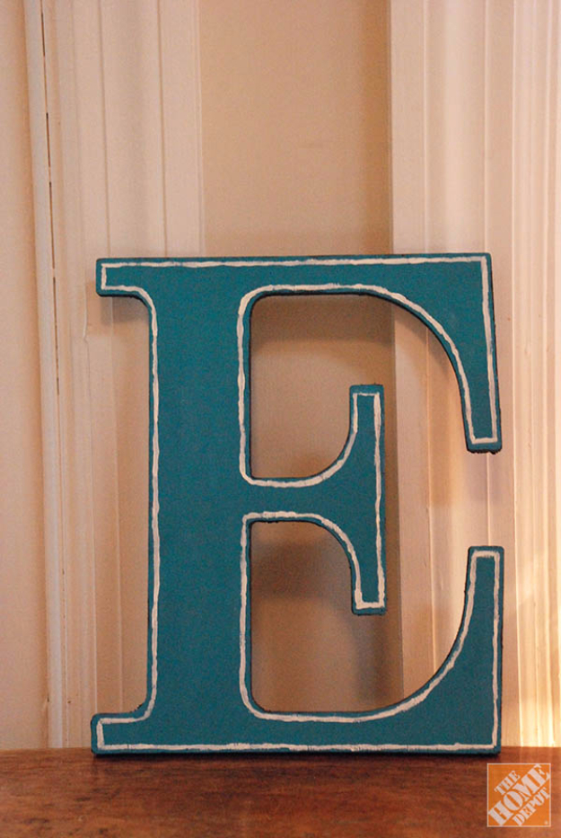 diy wall letters and initals wall art decorated wooden letters cool architectural letter projects