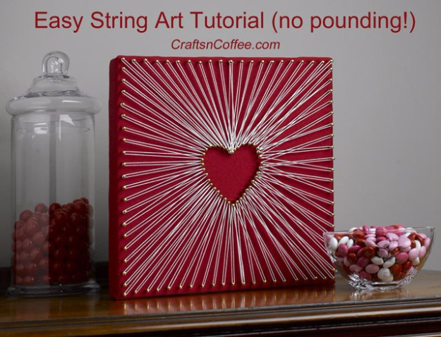 DIY String Art Projects - Easy String Art Tutorial - Cool, Fun and Easy Letters, Patterns and Wall Art Tutorials for String Art - How to Make Names, Words, Hearts and State Art for Room Decor and DIY Gifts - fun Crafts and DIY Ideas for Teens and Adults http://diyprojectsforteens.com/diy-string-art-projects