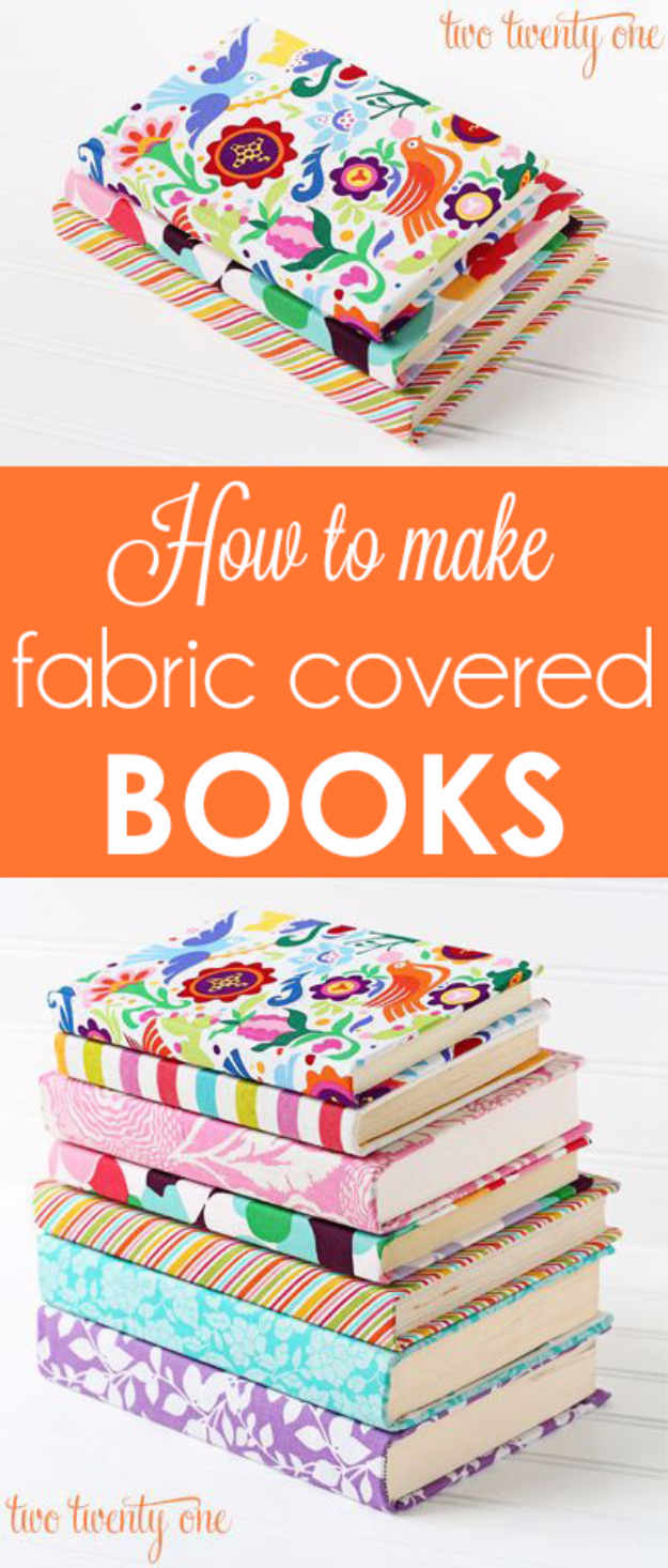 Diy Fabric Book Cover ~ Diy ideas for back to school supplies projects