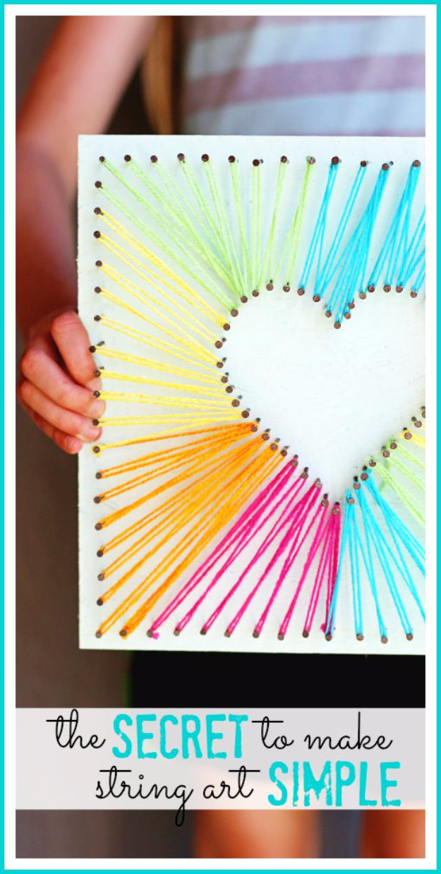 40 insanely creative string art projects diy projects for teens - String art modele ...