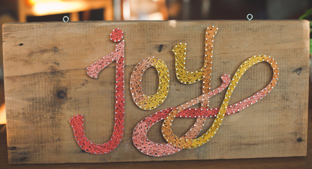 DIY String Art Projects - Joy String Art - Cool, Fun and Easy Letters, Patterns and Wall Art Tutorials for String Art - How to Make Names, Words, Hearts and State Art for Room Decor and DIY Gifts - fun Crafts and DIY Ideas for Teens and Adults http://diyprojectsforteens.com/diy-string-art-projects
