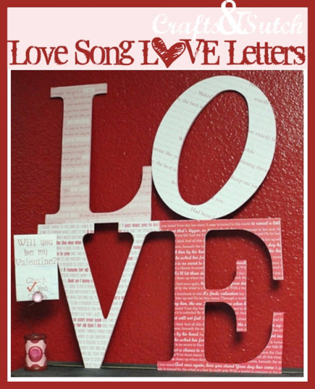 DDIY Wall Letters and Initals Wall Art - Love Song And Love Letters DIY - Cool Architectural Letter Projects for Living Room Decor, Bedroom Ideas. Girl or Boy Nursery. Paint, Glitter, String Art, Easy Cardboard and Rustic Wooden Ideas