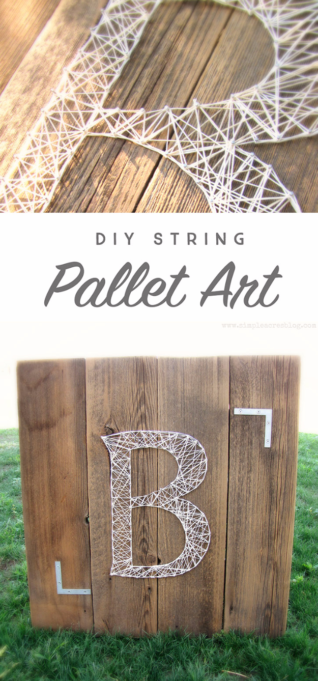 DIY String Art Projects Monogram String