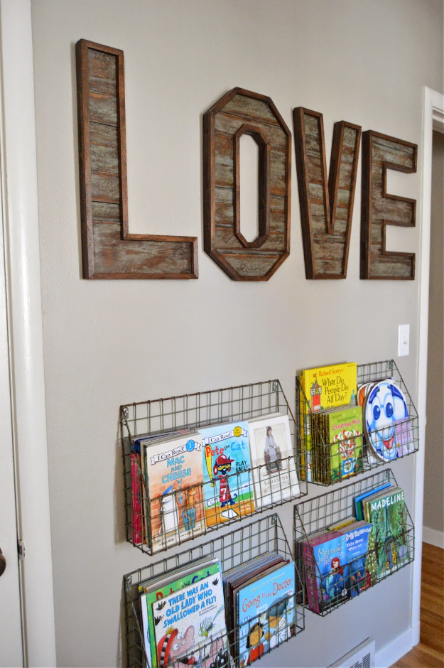 DIY Wall Letters and Initals Wall Art - Pallet Wood Letters - Cool Architectural Letter Projects for Living Room Decor, Bedroom Ideas. Girl or Boy Nursery. Paint, Glitter, String Art, Easy Cardboard and Rustic Wooden Ideas