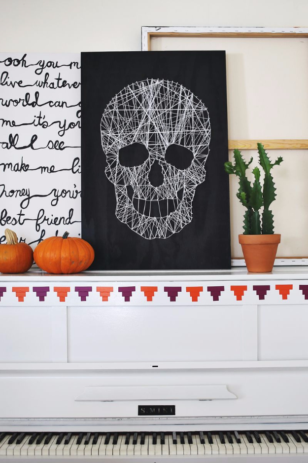 DIY String Art Projects - Skull String Art - Cool, Fun and Easy Letters, Patterns and Wall Art Tutorials for String Art - How to Make Names, Words, Hearts and State Art for Room Decor and DIY Gifts - fun Crafts and DIY Ideas for Teens and Adults http://diyprojectsforteens.com/diy-string-art-projects