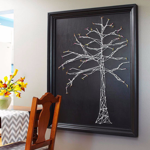 Cool Diy Wall Art Ideas : Insanely creative string art projects diy