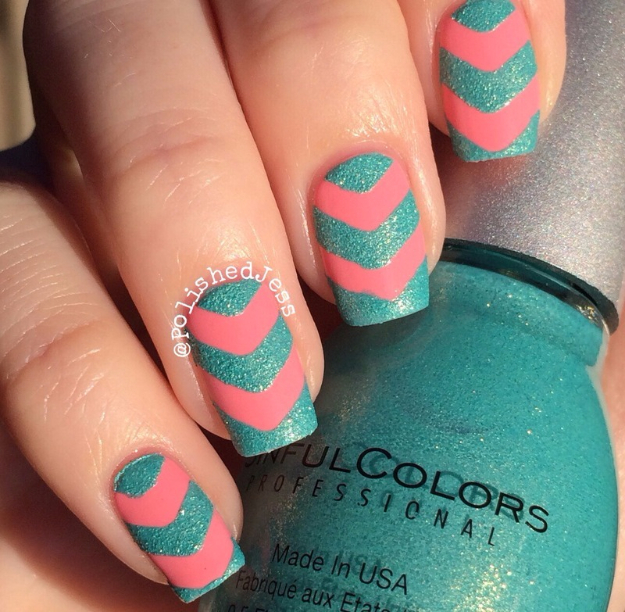 Awesome Nail Art Patterns And Ideas - Summer Chevrons - Step by Step DIY Nail Design Tutorials for Simple Art, Tribal Prints, Best Black and White Manicures. Easy and Fun Colors, Shapes and Designs for Your Nails http://diyprojectsforteens.com/best-nail-art-patterns-tutorials