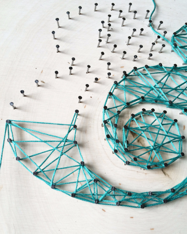 DIY String Art Projects - Typographic String Art Tutorial - Cool, Fun and Easy Letters, Patterns and Wall Art Tutorials for String Art - How to Make Names, Words, Hearts and State Art for Room Decor and DIY Gifts - fun Crafts and DIY Ideas for Teens and Adults #diyideas #stringart #teencrafts #crafts