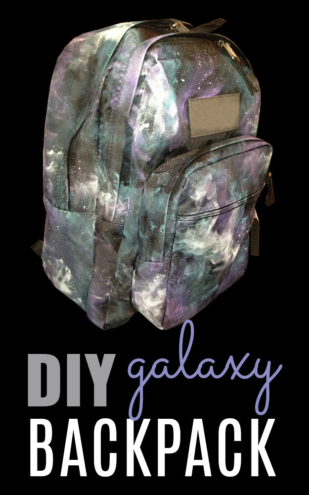 DIY Galaxy Crafts - DIY Galaxy Backpack- Galaxy DIY Projects for Your Room, Gifts, Clothes. Ideas for Painting Jewelry, Shirts, Jar Ideas, Food and Makeup. Step by Step Tutorials for Teens, Tweens and Adults