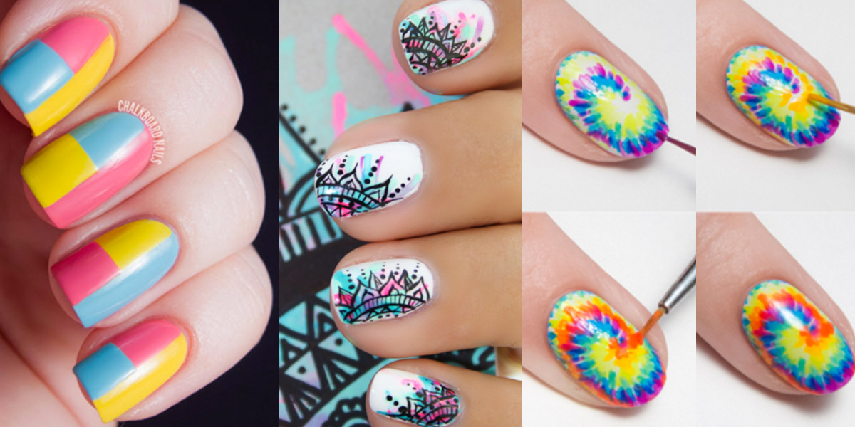 28 brilliantly creative nail art patterns diy projects for teens prinsesfo Image collections