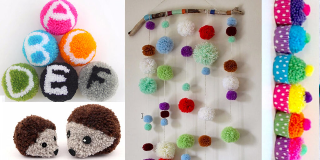 Diy projects for teens for Cute pom pom crafts
