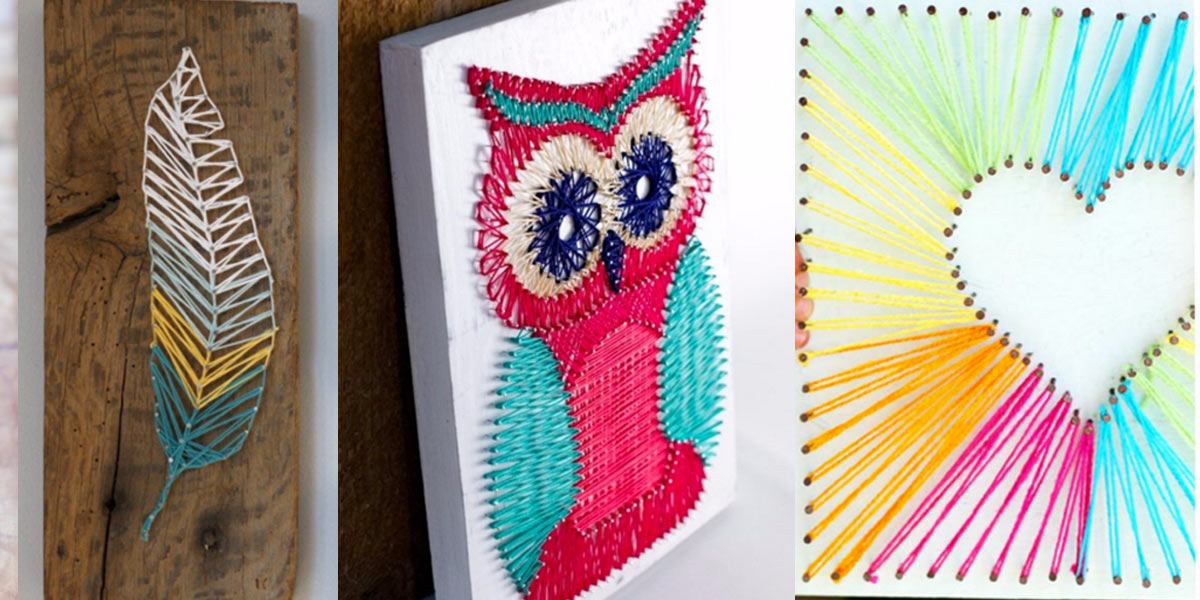 40 insanely creative string art projects for Easy diy arts and crafts