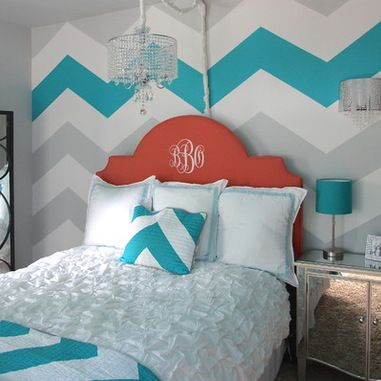 DIY Ideas for Painting Walls - Chevron Pattern Craze - Cool Ways To Paint Walls - Techniques, Tips, Stencils, Tutorials, Fun Colors and Creative Designs for Living Room, Bedroom, Kids Room, Bathroom and Kitchen http://diyprojectsforteens.com/cool-ways-to-paint-walls